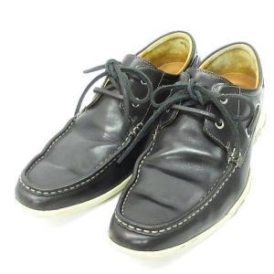 【中古】コールハーン COLE HAAN デッキシューズ ドライビング シューズ レザー 靴 黒 8 1/2 W ◆NK-15786 ◆08 メンズ 【ベクトル 古着】|vectorpremium