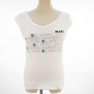 マークジェイコブス MARC JACOBS カットソー Tシャツ 半袖 ロゴ 白 S *E345 レディース【中古】【ベクトル 古着】