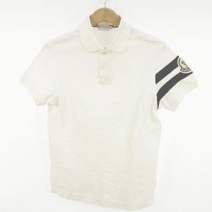 モンクレール MONCLER ポロシャツ 半袖 ライン 白 M *C874 メンズ【中古】【ベクトル 古着】|vectorpremium