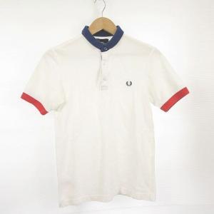 【中古】フレッドペリー FRED PERRY ポロシャツ 半袖 ワンポイント 白 紺 赤 S *A2...