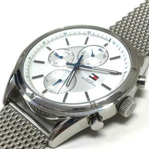 トミーヒルフィガー TOMMY HILFIGER クオーツ 腕時計 ウォッチ アナログ表示 マルチカレンダー シルバー 銀 SSAW メンズ【中古】【ベクトル 古着】 vectorpremium