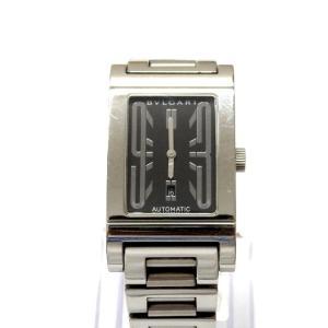 ブルガリ BVLGARI レッタンゴロ RT45BSSD 自動巻き 腕時計 ウォッチ ブラック文字盤/シルバー 黒 銀 ジャンク SSAW メンズ【中古】【ベクトル 古着】|vectorpremium