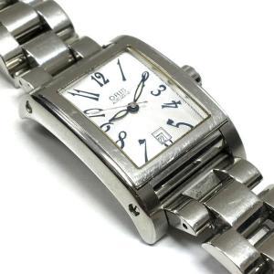 オリス ORIS レクタンギュラー デイデイト 7526 自動巻き 腕時計 ウォッチ シースルーバック シルバー 銀 SSAW レディース【中古】【ベクトル 古着】 vectorpremium