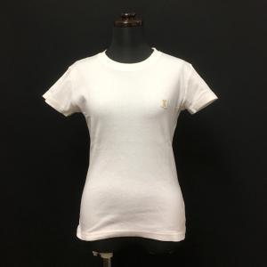アニエスベー agnes b. 胸ワッペン付き Tシャツ カットソー 半袖 ホワイト 白 春夏 レディース【中古】【ベクトル 古着】
