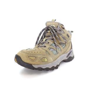 【中古】ザノースフェイス THE NORTH FACE GORE-TEX XCR MID トレッキングブーツ 靴  登山 US6 23.0 カーキ 緑 アウトドア SSAW レディース 【ベクトル 古着】|vectorpremium