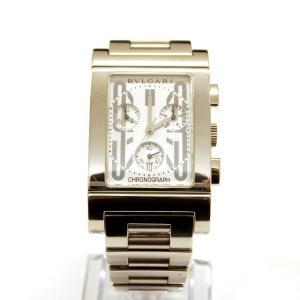 【中古】ブルガリ BVLGARI レッタンゴロ クロノグラフ 腕時計 ウォッチ RTC49S クオー...