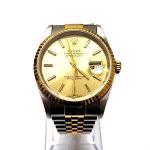 【中古】ロレックス ROLEX デイトジャスト Ref.16233 腕時計 ウォッチ X番 シャンパンゴールド 金 YGコンビ SSAW メンズ 【ベクトル 古着】|vectorpremium