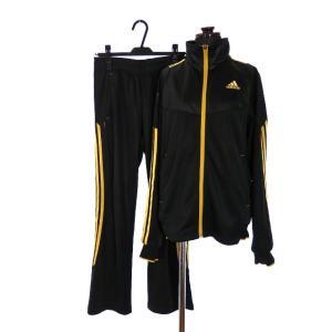 【中古】アディダス adidas ウォームアップジャケット パンツ ジャージ 上下セット 長袖 S ブラック 黒 スポーツウェア トレーニング メンズ 【ベクトル 古着】|vectorpremium