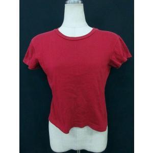 アニエスベー agnes b. Tシャツ カットソー 半袖 シンプルデザイン コットン L レッド 赤 TM18793 レディース【中古】【ベクトル 古着】