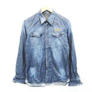 291295=HOMME ダンガリーシャツ 長袖 ポケット ...