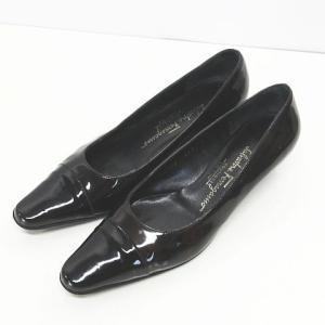 サルヴァトーレフェラガモ パンプス シューズ 靴 ローヒール...