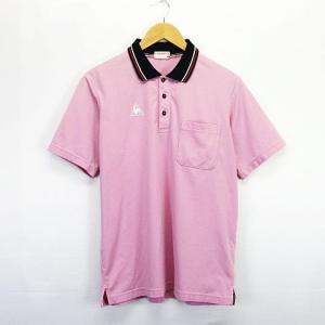 ルコックスポルティフ le coq sportif ポロシャツ 半袖 胸ポケット ロゴ L ピンク ...