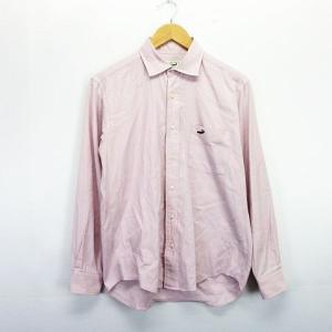 b586b91ac811 クロコダイル CROCODILE シャツ 長袖 胸ポケット ロゴ M ライトピンク ※EKM メンズ 【中古】【ベクトル 古着】