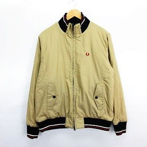 【中古】フレッドペリー ジャケット ブルゾン 長袖 ジップアップ リバーシブル ロゴ チェック XL...