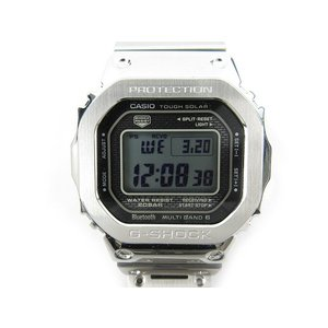 カシオジーショック CASIO G-SHOCK 腕時計 ウォッチ デジタル GMW-B5000-1JF 35周年記念モデル SS フルメタル シルバー Bluetooth ソーラー電波 タフソーラー|vectorpremium