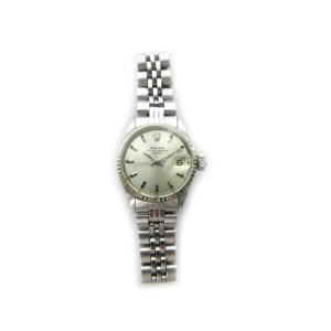【中古】ロレックス ROLEX 腕時計 ウォッチ OYSTER PERPETUAL DATE オイスターパーペチュアルデイト 自動巻き 6917 SS×K18WG シルバー  レディース|vectorpremium