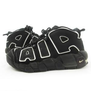 【中古】ナイキ NIKE AIR MORE UPTEMPO (GS)/エアモアアップテンポ/ブラック 黒 415082-002 US7Y 25cm 靴 メンズ レディース 【ベクトル 古着】|vectorpremium
