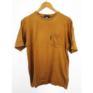 スコッチハウス SCOTCH HOUSE Tシャツ カットソー 半袖 胸ポケット ロゴ刺繍 L ベージュ メンズ【中古】【ベクトル 古着】