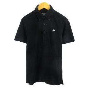 ラコステ LACOSTE ポロシャツ 半袖 BD シルバーラコ 銀ラコ ブラック 2 メンズ 【中古】【ベクトル 古着】|vectorpremium