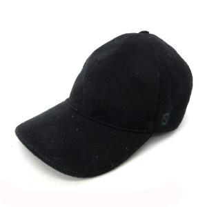 グッチ GUCCI 帽子 キャップ ロゴ シェリーライン 黒 ブラック L 国内正規 △ メンズ 【中古】【ベクトル 古着】 vectorpremium