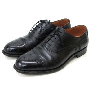 【中古】スコッチグレイン SCOTCH GRAIN ビジネスシューズ セミブローグ 革靴 ストレート...