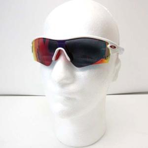 【中古】オークリー OAKLEY スポーツサングラス レーダー RADAR アイウェア ランニング ウォーキング 白 ホワイト 赤 レッド 09-721J メンズ 【ベクトル 古着】
