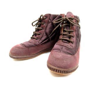 エレッセ ellesse ブーツ ショート スノーブーツ カッター 紫 S ※YN レディース【中古】【ベクトル 古着】