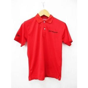 DUNLOP ダンロップ ゴルフウエアー ポロシャツ レギュラーカラー 半袖 刺繍 赤 レッド 黒 ...