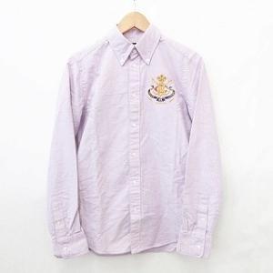 【中古】ラルフローレン RALPH LAUREN シャツ ボタンダウンシャツ 長袖 刺繍 前立て 釦...