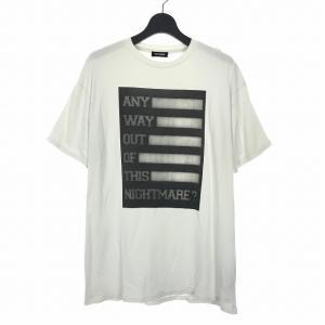 【中古】ラフシモンズ RAF SIMONS 17AW プリント Tシャツ カットソー 半袖 S ホワイト 白  メンズ 【ベクトル 古着】