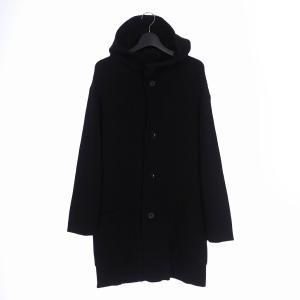 【中古】ヨウジヤマモトプールオム YOHJI YAMAMOTO POUR HOMME 19AW フーデットニット コート ジャケット 2 黒 ブラック HC-K17-184 メンズ 【ベクトル 古着】