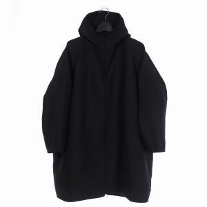 【中古】17AW B Yohji Yamamoto ビー ヨウジヤマモト フーデットコート 黒 ブラック  NK-C57-906 メンズ 【ベクトル 古着】