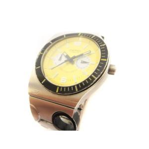 ディーゼル DIESEL 腕時計 DZ-4060 アナログ クオーツ シルバー 黄 イエロー ジャンク品 /ny メンズ【中古】【ベクトル 古着】 vectorpremium
