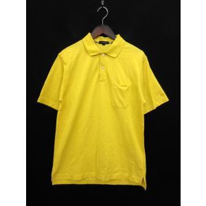 バーバリー BURBERRY ポロシャツ ロゴ 刺繍 半袖 コットン L 黄色 イエロー 国内正規品...