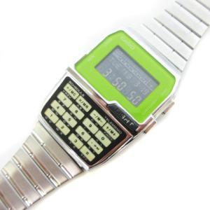 カシオデーターバンク CASIO DATABANK 腕時計 反転液晶 クオーツ デジタル SS 緑 グリーン シルバー DBC-1500 ☆S☆ cm|vectorpremium