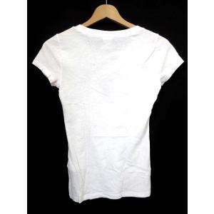 ギリーヒックス Gilly Hicks Tシャツ ボートネック ブランドロゴ 刺繍 半袖 XS 白 /HR255 レディース 【ベクトル 古着】【中古】 vectorpremium 02
