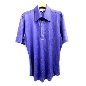 未使用品 イヴサンローランリヴゴーシュ YVES SAINT LAURENT rive gauche ポロシャツ 半袖 M 紫 /CY70 メンズ【中古】【ベクトル 古着】|vectorpremium
