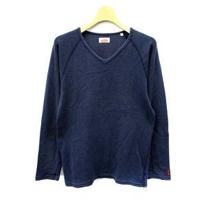 ハリウッドランチマーケット HOLLYWOOD RANCH MARKET カットソー Tシャツ 長袖 3 紺 /AK33 レディース【中古】【ベクトル 古着】|vectorpremium