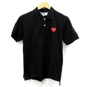 プレイコムデギャルソン PLAY COMME des GARCONS ポロシャツ 刺繍 半袖 黒 S /AO17 メンズ【中古】【ベクトル 古着】|vectorpremium