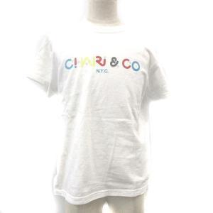 【中古】チャリアンドコー CHARI&CO Tシャツ カットソー 半袖 S 白 ホワイト /AD16...
