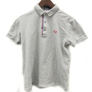 【中古】フレッドペリー FRED PERRY ポロシャツ 半袖 刺繍 M グレー /CO29 メンズ...