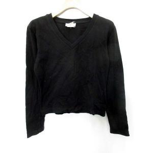 アニエスベー agnes b. PARIS Tシャツ 長袖 Vネック 1 黒 /MR14 メンズ【中古】【ベクトル 古着】