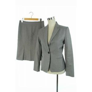 アンタイトル UNTITLED スーツ セットアップ 上下 ジャケット 背抜き スカート ひざ丈 3 グレー レディース【中古】【ベクトル 古着】 vectorpremium