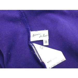 アダムエロペ Adam et Rope' ポロシャツ カットソー ボタンダウン 半袖 コットン 38 紫 パープル /hk レディース【中古】【ベクトル 古着】 vectorpremium 04