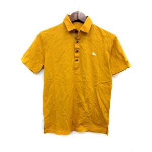 バーバリーブラックレーベル BURBERRY BLACK LABEL ポロシャツ 半袖 1 マスタード イエロー 黄 /KH ● メンズ【中古】【ベクトル 古着】 vectorpremium