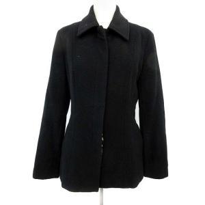 ビッキー VICKY コート ステンカラー ショート ウール 2 黒 ブラック /KH ■CA レデ...