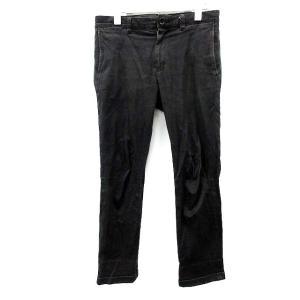 ラウンジリザード LOUNGE LIZARD パンツ デニム ジーンズ ストレッチ素材 1 黒 /D...
