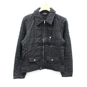アーペーセー A.P.C. ジャケット ブルゾン デニム 中綿 ジップアップ M 黒 ブラック /N...