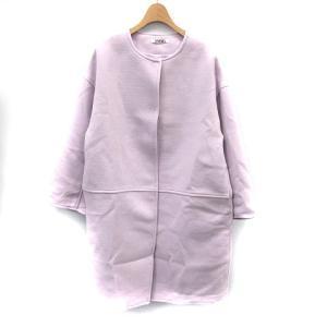 スナイデル snidel ノーカラーコート ロング F 紫 パープル /MR ■CA直1 レディース...