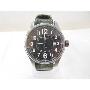 ハミルトン HAMILTON 腕時計 カーキ フィールド オフィサー 自動巻き 黒文字盤 H70615733 メンズ 【ベクトル 古着】【中古】 vectorpremium